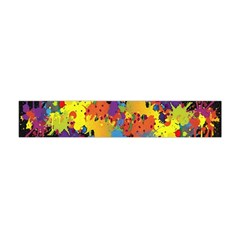 Crazy Multicolored Double Running Splashes Horizon Flano Scarf (mini) by EDDArt