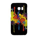 Crazy Multicolored Double Running Splashes Horizon Galaxy S6 Edge