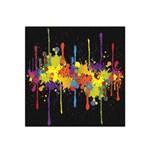 Crazy Multicolored Double Running Splashes Horizon Satin Bandana Scarf