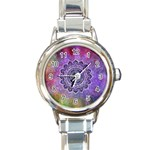 Flower Of Life Indian Ornaments Mandala Universe Round Italian Charm Watch