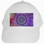 Flower Of Life Indian Ornaments Mandala Universe White Cap