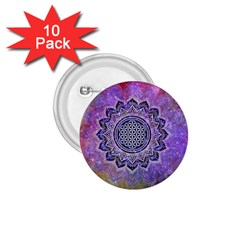 Flower Of Life Indian Ornaments Mandala Universe 1 75  Buttons (10 Pack) by EDDArt