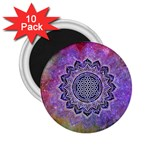 Flower Of Life Indian Ornaments Mandala Universe 2.25  Magnets (10 pack)