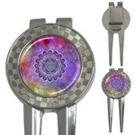 Flower Of Life Indian Ornaments Mandala Universe 3-in-1 Golf Divots