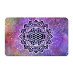 Flower Of Life Indian Ornaments Mandala Universe Magnet (rectangular) by EDDArt