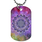 Flower Of Life Indian Ornaments Mandala Universe Dog Tag (One Side)