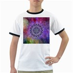 Flower Of Life Indian Ornaments Mandala Universe Ringer T-Shirts