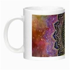 Flower Of Life Indian Ornaments Mandala Universe Night Luminous Mugs by EDDArt