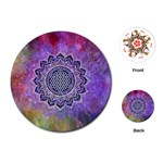 Flower Of Life Indian Ornaments Mandala Universe Playing Cards (Round)