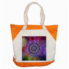 Flower Of Life Indian Ornaments Mandala Universe Accent Tote Bag by EDDArt
