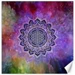 Flower Of Life Indian Ornaments Mandala Universe Canvas 20  x 20