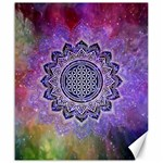 Flower Of Life Indian Ornaments Mandala Universe Canvas 20  x 24
