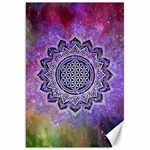 Flower Of Life Indian Ornaments Mandala Universe Canvas 20  x 30