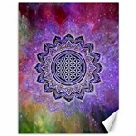 Flower Of Life Indian Ornaments Mandala Universe Canvas 36  x 48