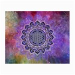 Flower Of Life Indian Ornaments Mandala Universe Small Glasses Cloth (2-Side)
