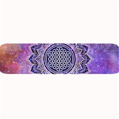 Flower Of Life Indian Ornaments Mandala Universe Large Bar Mats by EDDArt