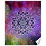 Flower Of Life Indian Ornaments Mandala Universe Canvas 11  x 14