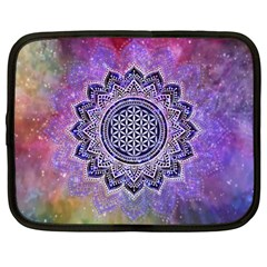 Flower Of Life Indian Ornaments Mandala Universe Netbook Case (large) by EDDArt
