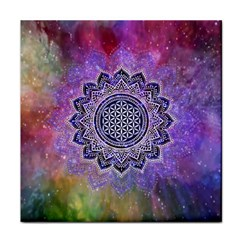 Flower Of Life Indian Ornaments Mandala Universe Face Towel by EDDArt