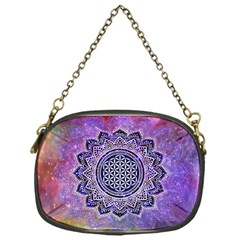 Flower Of Life Indian Ornaments Mandala Universe Chain Purses (one Side)  by EDDArt