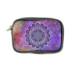 Flower Of Life Indian Ornaments Mandala Universe Coin Purse by EDDArt