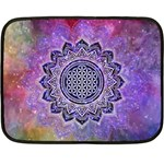 Flower Of Life Indian Ornaments Mandala Universe Double Sided Fleece Blanket (Mini)
