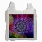 Flower Of Life Indian Ornaments Mandala Universe Recycle Bag (One Side)