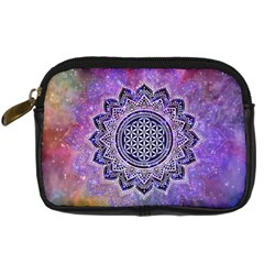 Flower Of Life Indian Ornaments Mandala Universe Digital Camera Cases by EDDArt