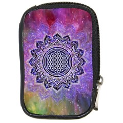 Flower Of Life Indian Ornaments Mandala Universe Compact Camera Cases by EDDArt