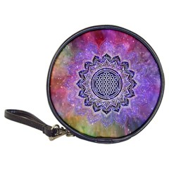 Flower Of Life Indian Ornaments Mandala Universe Classic 20 Cd Wallets by EDDArt