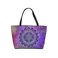 Flower Of Life Indian Ornaments Mandala Universe Shoulder Handbags by EDDArt