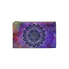 Flower Of Life Indian Ornaments Mandala Universe Cosmetic Bag (small)  by EDDArt