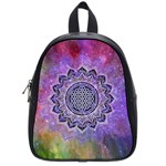 Flower Of Life Indian Ornaments Mandala Universe School Bags (Small)