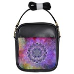Flower Of Life Indian Ornaments Mandala Universe Girls Sling Bags