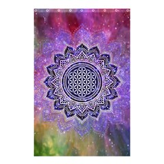 Flower Of Life Indian Ornaments Mandala Universe Shower Curtain 48  X 72  (small)  by EDDArt