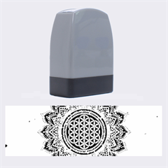 Flower Of Life Indian Ornaments Mandala Universe Name Stamps by EDDArt