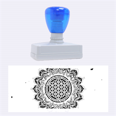 Flower Of Life Indian Ornaments Mandala Universe Rubber Stamps (large) by EDDArt