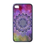 Flower Of Life Indian Ornaments Mandala Universe Apple iPhone 4 Case (Black)