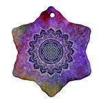 Flower Of Life Indian Ornaments Mandala Universe Snowflake Ornament (2-Side)