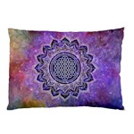 Flower Of Life Indian Ornaments Mandala Universe Pillow Case (Two Sides)