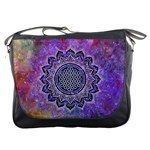 Flower Of Life Indian Ornaments Mandala Universe Messenger Bags