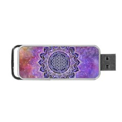 Flower Of Life Indian Ornaments Mandala Universe Portable Usb Flash (two Sides) by EDDArt