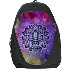 Flower Of Life Indian Ornaments Mandala Universe Backpack Bag by EDDArt