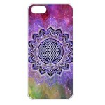 Flower Of Life Indian Ornaments Mandala Universe Apple iPhone 5 Seamless Case (White)