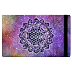 Flower Of Life Indian Ornaments Mandala Universe Apple Ipad 3/4 Flip Case by EDDArt