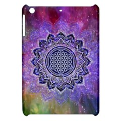Flower Of Life Indian Ornaments Mandala Universe Apple Ipad Mini Hardshell Case by EDDArt