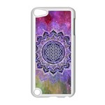 Flower Of Life Indian Ornaments Mandala Universe Apple iPod Touch 5 Case (White)
