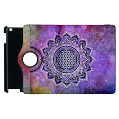 Flower Of Life Indian Ornaments Mandala Universe Apple Ipad 3/4 Flip 360 Case by EDDArt