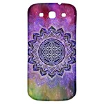 Flower Of Life Indian Ornaments Mandala Universe Samsung Galaxy S3 S III Classic Hardshell Back Case