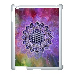 Flower Of Life Indian Ornaments Mandala Universe Apple Ipad 3/4 Case (white) by EDDArt
